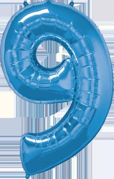 9 Sapphire Blue Foil Number 34in/86cm