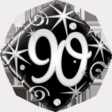 90 Elegant Sparkles and Swirls Foil Diamond 18in/45cm