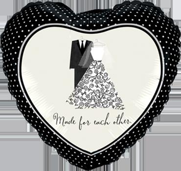 A Perfect Pair Foil Heart 18in/45cm