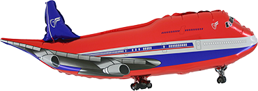 Airplane Red Foil Shape 29in/74cm