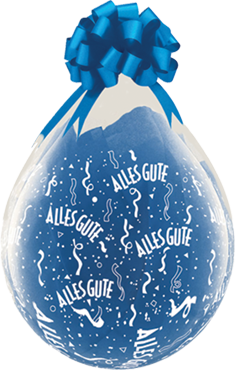 Alles Gute Crystal Diamond Clear (Transparent) Latex Round 18in/45cm