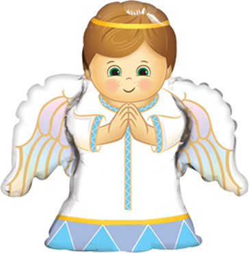 Angel Boy Foil Shape 14in/36cm