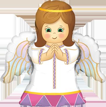 Angel Girl Foil Shape 14in/35cm