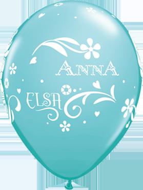 Anna, Elsa and Olaf Fashion Caribbean Blue Latex Round 11in/27.5cm