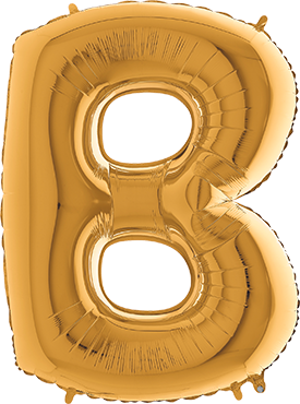 B Gold Foil Letter 7in/18cm