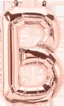 B Rose Gold Foil Letter 16in/40cm
