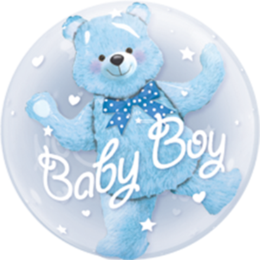 Baby Blue Bear Double Bubble 24in/60cm