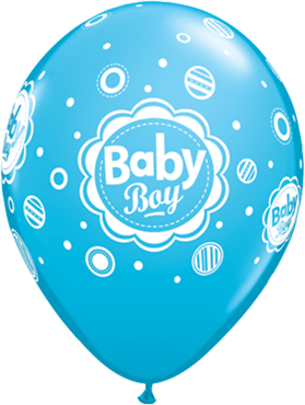 Baby Boy Dots Fashion Robins Egg Blue Latex Round 11in/27.5cm