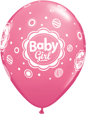 Baby Girl Dots Fashion Rose Latex Round 11in/27.5cm