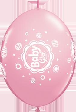 Baby Girl Dots Standard Pink QuickLink 12in/30cm