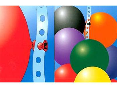 ballonnen aan elkaar knopen