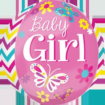 Beautiful Baby Girl Orbz 15in/38cm x 16in/40cm