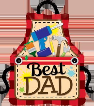 Best Dad Apron Foil Shape 41in/104cm