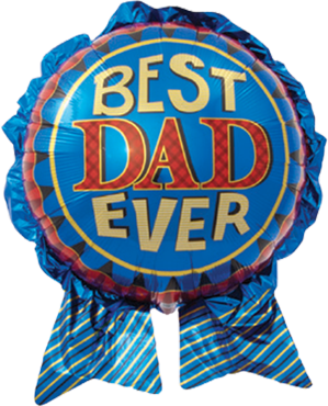 Best Dad Ever Foil Shape 29in/74cm