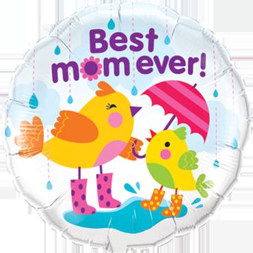 Best M(Flower)M Raindrops Foil Round 18in/45cm