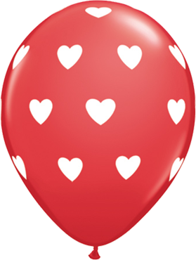 Big Hearts Standard Red Latex Round 11in/27.5cm