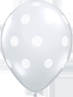 Big Polka Dots Crystal Diamond Clear (Transparent) Latex Round 11in/27.5cm