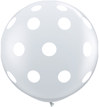 Big Polka Dots Crystal Diamond Clear (Transparent) Latex Round 36in/90cm
