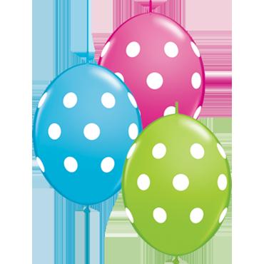 Big Polka Dots Fashion Lime Green, Fashion Wild Berry and Fashion Robins Egg Blue Assortment QuickLink 12in/30cm