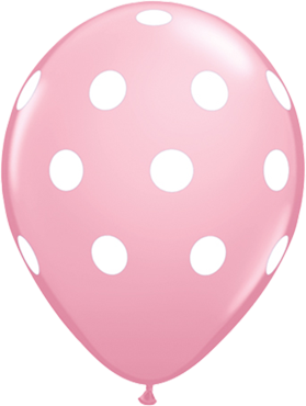 Big Polka Dots Standard Pink Latex Round 11in/27.5cm