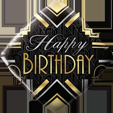 Birthday Art Deco Foil Diamond 18in/45cm