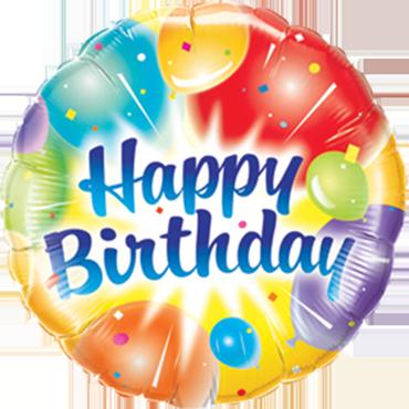 Birthday Balloons Ablaze Blue Foil Round 9in/22.5cm
