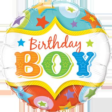 Birthday Boy Circus Stars Foil Round 18in/45cm