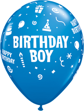 Birthday Boy Standard Dark Blue Latex Round 11in/27.5cm