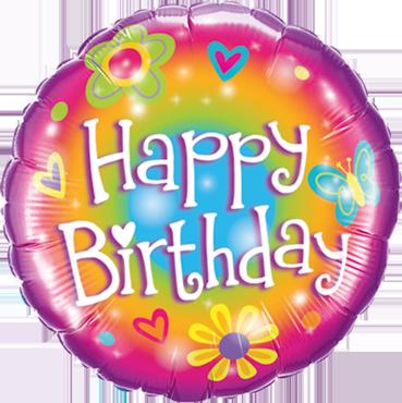 Birthday Bright Foil Round 18in/45cm