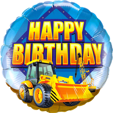 Birthday Construction Zone Foil Round 18in/45cm