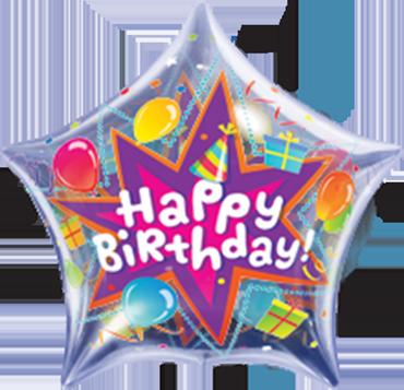 Birthday Party Blast Single Bubble 22in/55cm