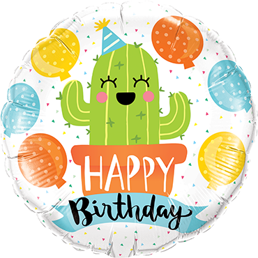 Birthday Party Cactus Foil Round 18in/45cm