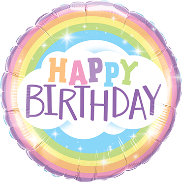 Birthday Rainbow Foil Round 18in/45cm