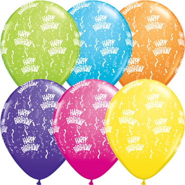 Birthday Retail Assortment Latex Round 11in/27.5cm