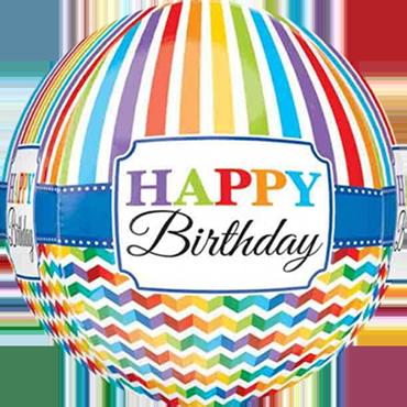 Birthday Sprinkles and Sparkles Foil Round 9in/22.5cm