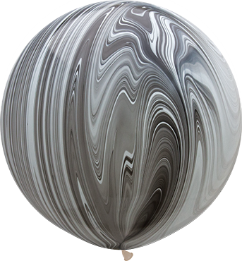 Black and White SuperAgate Latex Round 30in/75cm