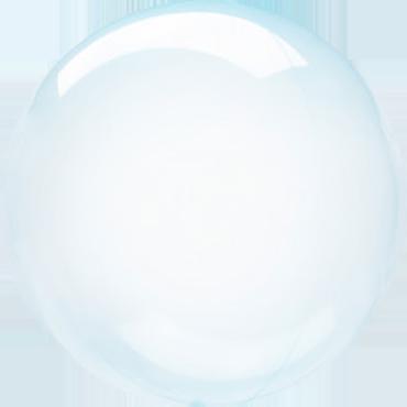Blue Crystal Clearz Orbz 18in/45cm x 18in/45cm