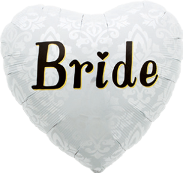 Bride Foil Heart 18in/45cm
