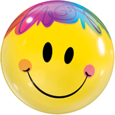 Bright Smile Face Single Bubble 22in/55cm