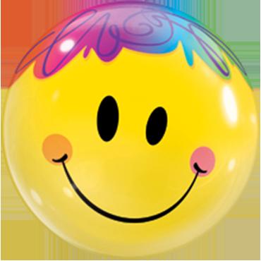 Bright Smile Face Single Bubble 22in/55cm