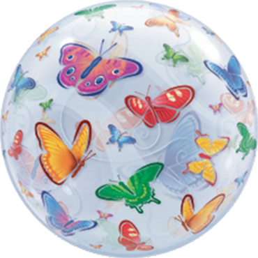 Butterflies Single Bubble 22in/55cm