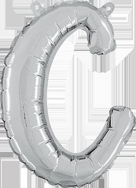 C Script Silver Foil Letter 14in/36cm