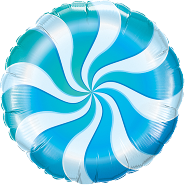 Candy Swirl Blue Foil Round 18in/45cm