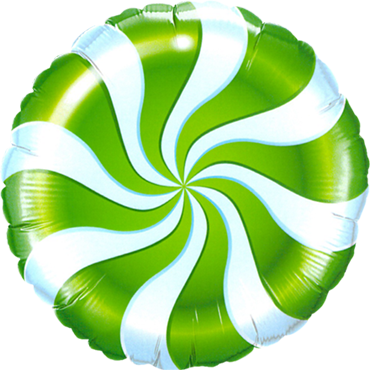 Candy Swirl Green Foil Round 18in/45cm