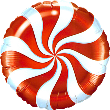 Candy Swirl Red Foil Round 18in/45cm