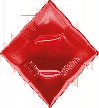 Casino Diamond Red Foil Shape 30in/76cm