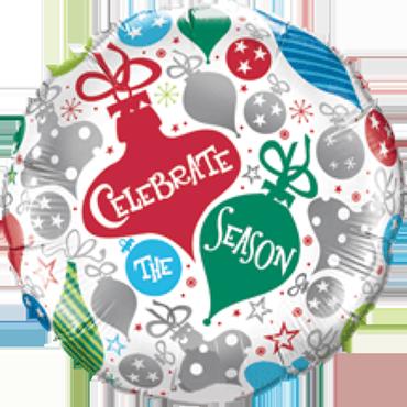 Celebrate The Season Ornaments Foil Round 18in/45cm