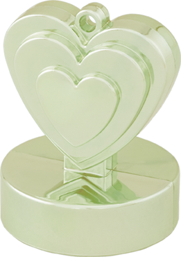 Champagne Ivory Heart Weight 110g 62mm