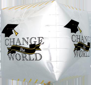 Change the World Grad Cube 17in/43cm