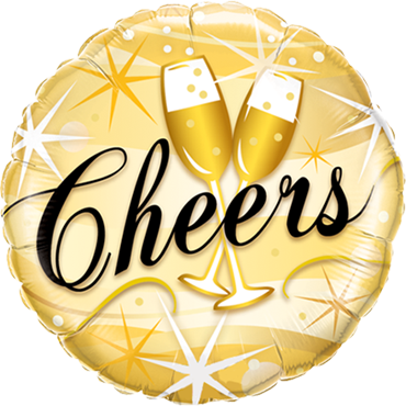 Cheers Starbursts Foil Round 18in/45cm